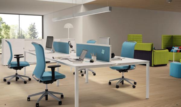 Bella Proporzione - Mobiliario de Oficina en Valladolid - Mesa de Oficina L System de Guialmi